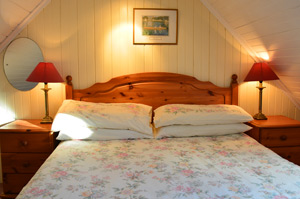 The double bedroom of the holiday cottage